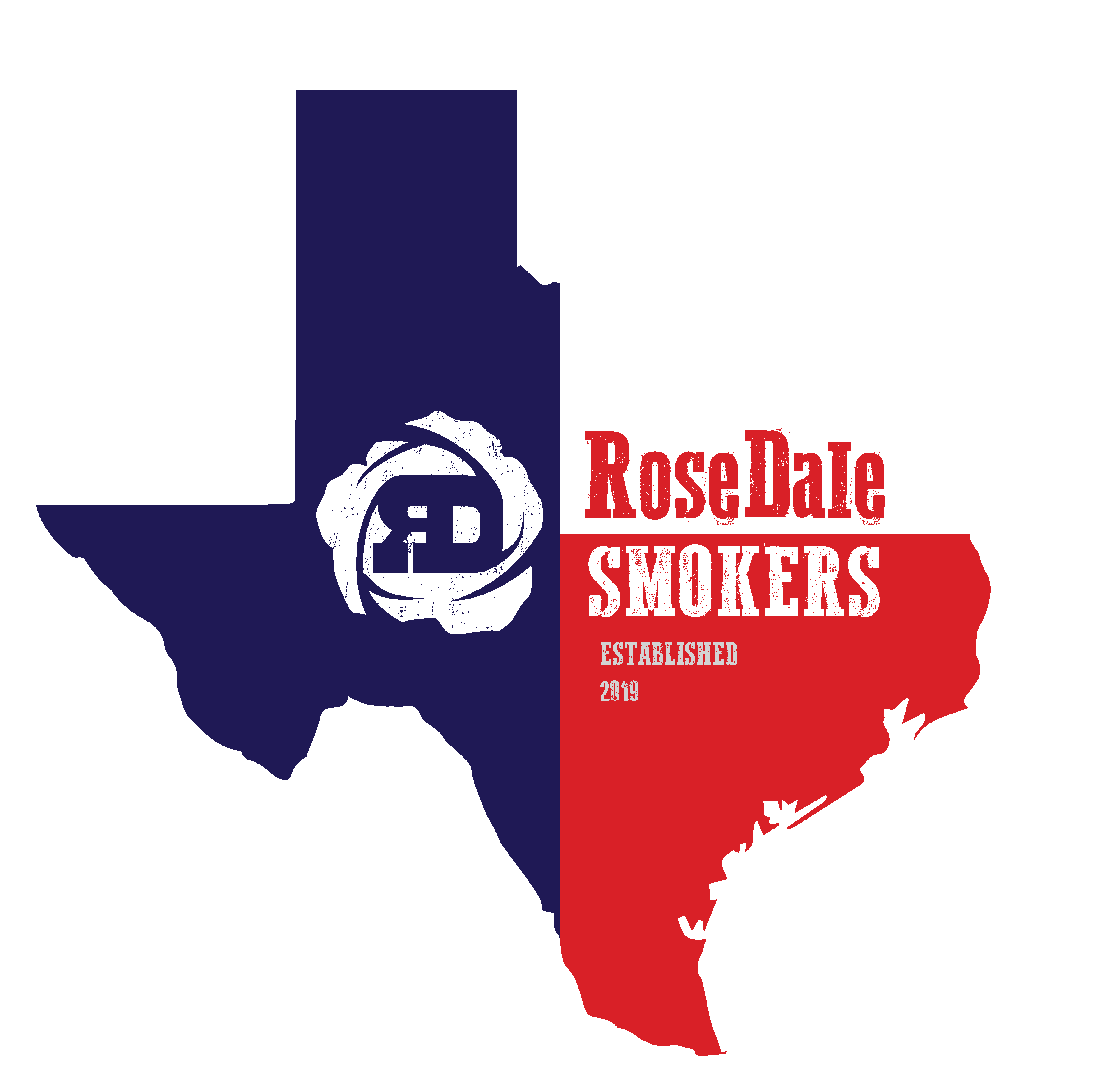 RoseDale Smokers Texas Flag